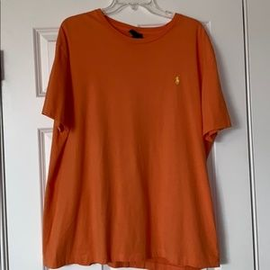 Polo by Ralph Lauren Orange T-Shirt, Size Large